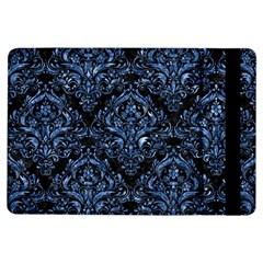 Damask1 Black Marble & Blue Marble Apple Ipad Air Flip Case by trendistuff