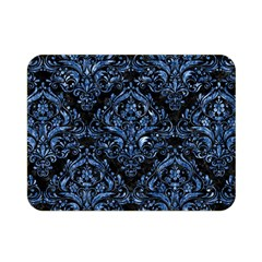 Damask1 Black Marble & Blue Marble Double Sided Flano Blanket (mini) by trendistuff