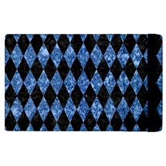 Diamond1 Black Marble & Blue Marble Apple Ipad 3/4 Flip Case by trendistuff