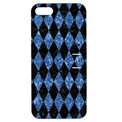 Diamond1 Black Marble & Blue Marble Apple Iphone 5 Hardshell Case With Stand by trendistuff