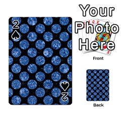 Circles2 Black Marble & Blue Marble (r) Playing Cards 54 Designs