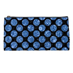 Circles2 Black Marble & Blue Marble (r) Pencil Case by trendistuff