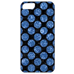 Circles2 Black Marble & Blue Marble (r) Apple Iphone 5 Classic Hardshell Case by trendistuff