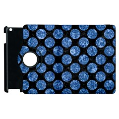 Circles2 Black Marble & Blue Marble (r) Apple Ipad 3/4 Flip 360 Case by trendistuff