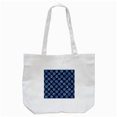 Circles2 Black Marble & Blue Marble (r) Tote Bag (white) by trendistuff