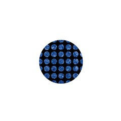 Circles1 Black Marble & Blue Marble (r) 1  Mini Magnet by trendistuff