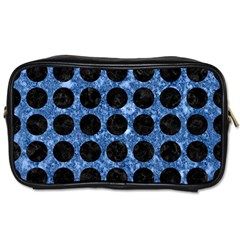 Circles1 Black Marble & Blue Marble Toiletries Bag (two Sides) by trendistuff