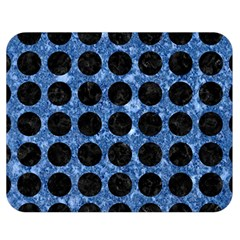 Circles1 Black Marble & Blue Marble Double Sided Flano Blanket (medium) by trendistuff