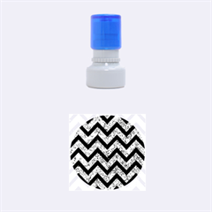 CHV9 BK-BL MARBLE (R) Rubber Round Stamps (Small) by trendistuff