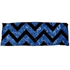 Chevron9 Black Marble & Blue Marble (r) Body Pillow Case (dakimakura) by trendistuff
