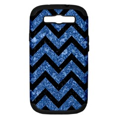 CHV9 BK-BL MARBLE (R) Samsung Galaxy S III Hardshell Case (PC+Silicone) by trendistuff