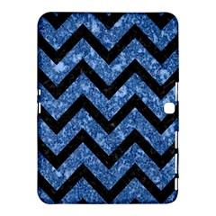 Chv9 Bk Bl Marble (r) Samsung Galaxy Tab 4 (10 1 ) Hardshell Case  by trendistuff