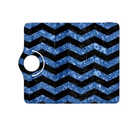 Chevron3 Black Marble & Blue Marble Kindle Fire Hdx 8 9  Flip 360 Case by trendistuff