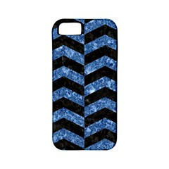 Chevron2 Black Marble & Blue Marble Apple Iphone 5 Classic Hardshell Case (pc+silicone) by trendistuff