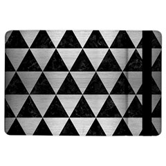 Triangle3 Black Marble & Silver Brushed Metal Apple Ipad Air Flip Case by trendistuff
