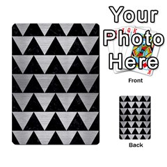 Triangle2 Black Marble & Silver Brushed Metal Multi Purpose Cards (rectangle)
