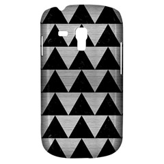 Triangle2 Black Marble & Silver Brushed Metal Samsung Galaxy S3 Mini I8190 Hardshell Case by trendistuff
