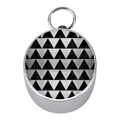 Triangle2 Black Marble & Silver Brushed Metal Silver Compass (mini) by trendistuff