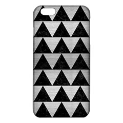 Triangle2 Black Marble & Silver Brushed Metal Iphone 6 Plus/6s Plus Tpu Case by trendistuff