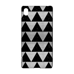 Triangle2 Black Marble & Silver Brushed Metal Sony Xperia Z3+ Hardshell Case