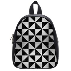 Triangle1 Black Marble & Silver Brushed Metal School Bag (small) by trendistuff