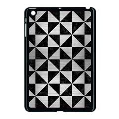 Triangle1 Black Marble & Silver Brushed Metal Apple Ipad Mini Case (black) by trendistuff