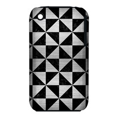 Triangle1 Black Marble & Silver Brushed Metal Apple Iphone 3g/3gs Hardshell Case (pc+silicone) by trendistuff