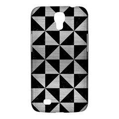Triangle1 Black Marble & Silver Brushed Metal Samsung Galaxy Mega 6 3  I9200 Hardshell Case by trendistuff