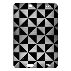 Triangle1 Black Marble & Silver Brushed Metal Amazon Kindle Fire Hd (2013) Hardshell Case by trendistuff
