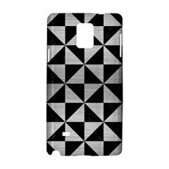 TRI1 BK MARBLE SILVER Samsung Galaxy Note 4 Hardshell Case by trendistuff