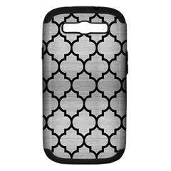 TIL1 BK MARBLE SILVER (R) Samsung Galaxy S III Hardshell Case (PC+Silicone) by trendistuff