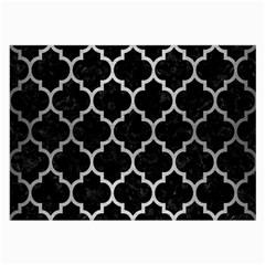 Tile1 Black Marble & Silver Brushed Metal Large Glasses Cloth by trendistuff