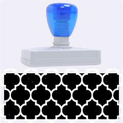 Tile1 Black Marble & Silver Brushed Metal Rubber Address Stamp (xl) by trendistuff