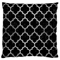 Tile1 Black Marble & Silver Brushed Metal Standard Flano Cushion Case (two Sides) by trendistuff