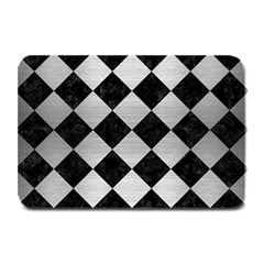 Square2 Black Marble & Silver Brushed Metal Plate Mat by trendistuff