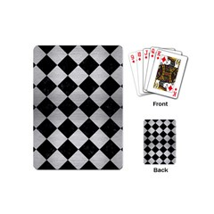 Square2 Black Marble & Silver Brushed Metal Playing Cards (mini) by trendistuff
