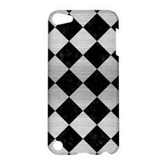 Square2 Black Marble & Silver Brushed Metal Apple Ipod Touch 5 Hardshell Case by trendistuff