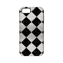 Square2 Black Marble & Silver Brushed Metal Apple Iphone 5 Classic Hardshell Case (pc+silicone) by trendistuff