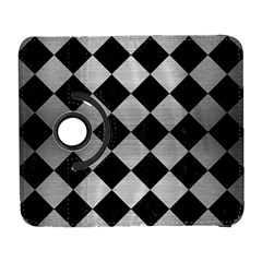 Square2 Black Marble & Silver Brushed Metal Samsung Galaxy S  Iii Flip 360 Case by trendistuff