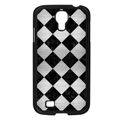 Square2 Black Marble & Silver Brushed Metal Samsung Galaxy S4 I9500/ I9505 Case (black) by trendistuff