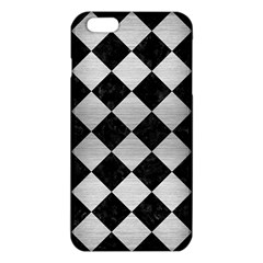 Square2 Black Marble & Silver Brushed Metal Iphone 6 Plus/6s Plus Tpu Case
