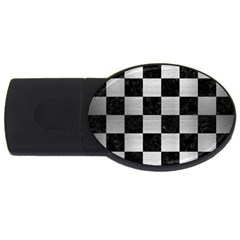 Square1 Black Marble & Silver Brushed Metal Usb Flash Drive Oval (4 Gb) by trendistuff