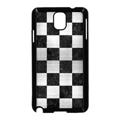 Square1 Black Marble & Silver Brushed Metal Samsung Galaxy Note 3 Neo Hardshell Case (black) by trendistuff