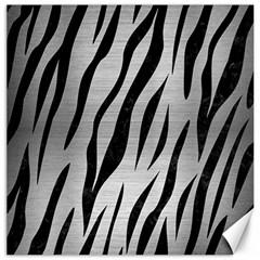Skin3 Black Marble & Silver Brushed Metal (r) Canvas 12  X 12  by trendistuff