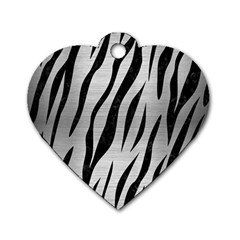 SKN3 BK MARBLE SILVER (R) Dog Tag Heart (One Side) by trendistuff