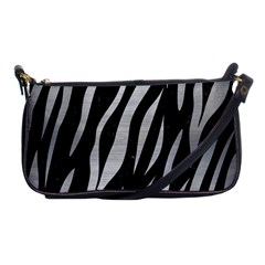 Skin3 Black Marble & Silver Brushed Metal Shoulder Clutch Bag by trendistuff