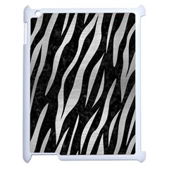 Skin3 Black Marble & Silver Brushed Metal Apple Ipad 2 Case (white) by trendistuff