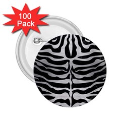 Skin2 Black Marble & Silver Brushed Metal 2 25  Button (100 Pack) by trendistuff