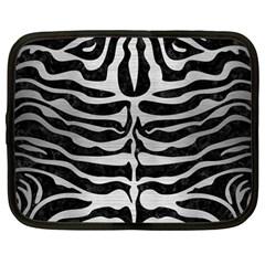 Skin2 Black Marble & Silver Brushed Metal Netbook Case (large) by trendistuff