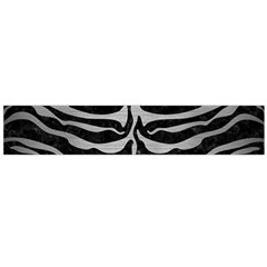 Skin2 Black Marble & Silver Brushed Metal Flano Scarf (large) by trendistuff